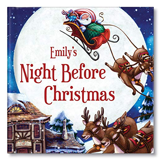 """Book cover for \""""Emily\'s Night Before Christmas\"""" children\'s book."""