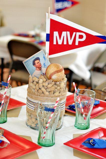 MVP and peanut mason jar centerpieces.