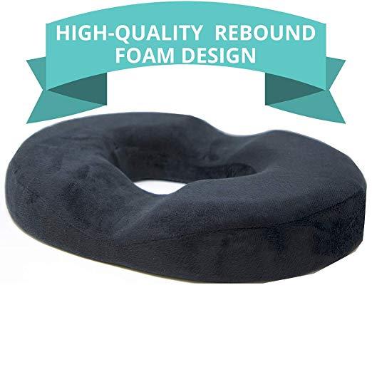 Memory foam donut cushion.