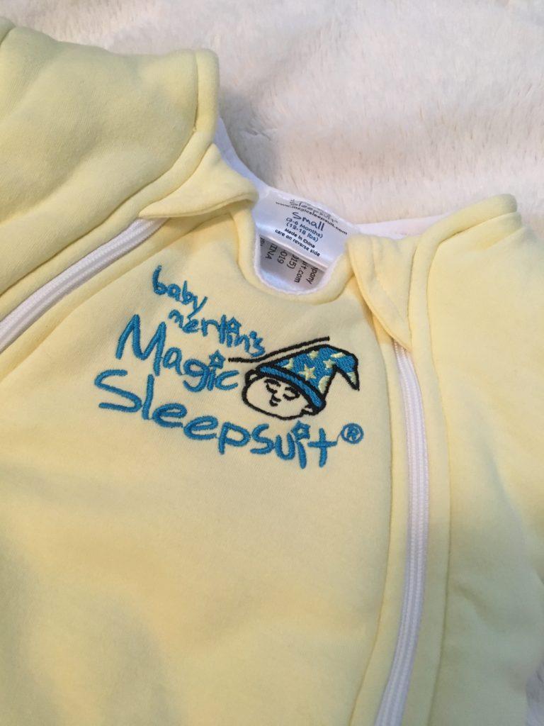 Yellow sleep sack for babies.