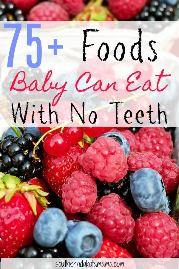 75+ Foods Baby Can Eat With No Teeth