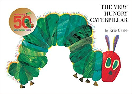 The Hungry Hungry Caterpillar book cover.