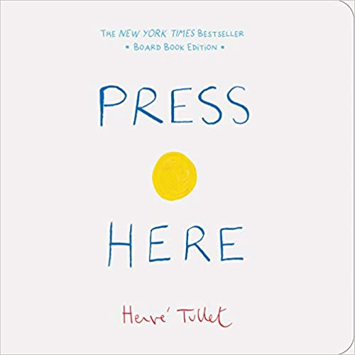Book cover for Press here book.