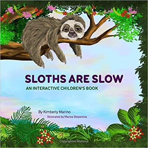 Book cover for Sloths Are Slow book.
