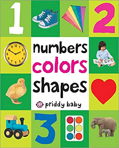Numbers Colors Shapes book for kids.