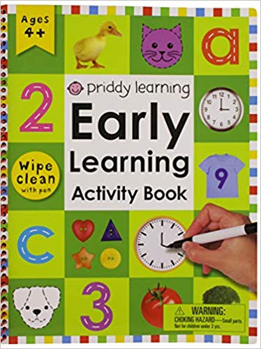 Book cover for Early Learning Activity book.