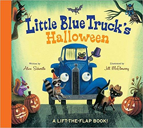 Little Blue Truck\'s Halloween baby book.