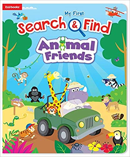 Book cover for Search & Find Animal Friends book.