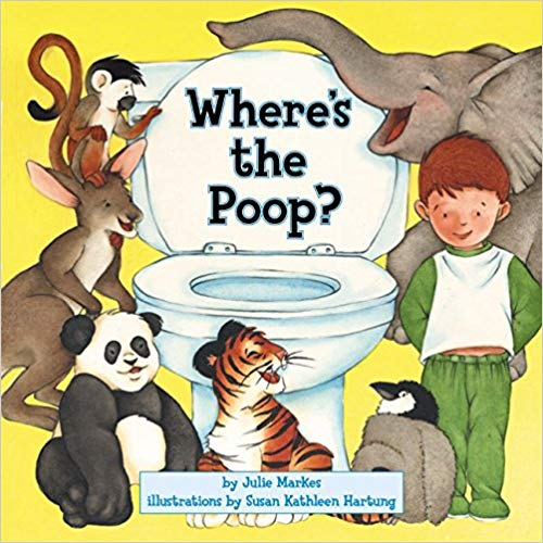 Where\'s the Poop? book for baby\'s first library.