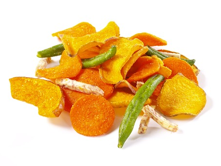 Dried veggie chips snack.
